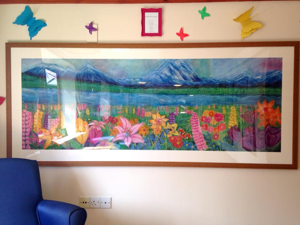 Pastel Landscape, Appleby Tate, Appleby House Care Home, Art Sessions, Creative Minds